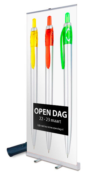 rollup banner budget 100 x 200 cm breed