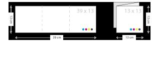 drieluik kaarten drukken 130 x 130 mm