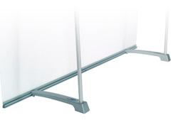 100 cm brede 4screen achterzijde met print en staanders