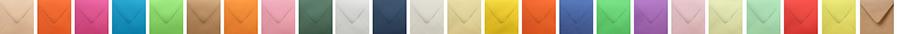 Gekleurde enveloppen beschikbaar in 52 kleuren! Van mat tot metallic, wit, gebroken wit, crème en alles passend bij uw kaart