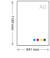 a0 posters drukken 1189 x 841 mm op zelfklevend Easydot PVC