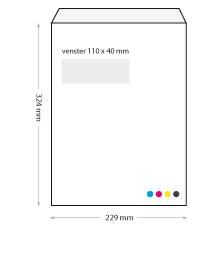 bedrukte enveloppen 229 x 324 mm