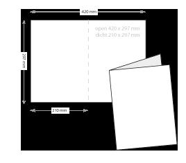 a4 folders drukken op dik papier