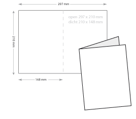 a5 folders drukken op zwaar papier