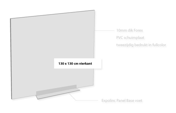 Forex 10mm vierkant