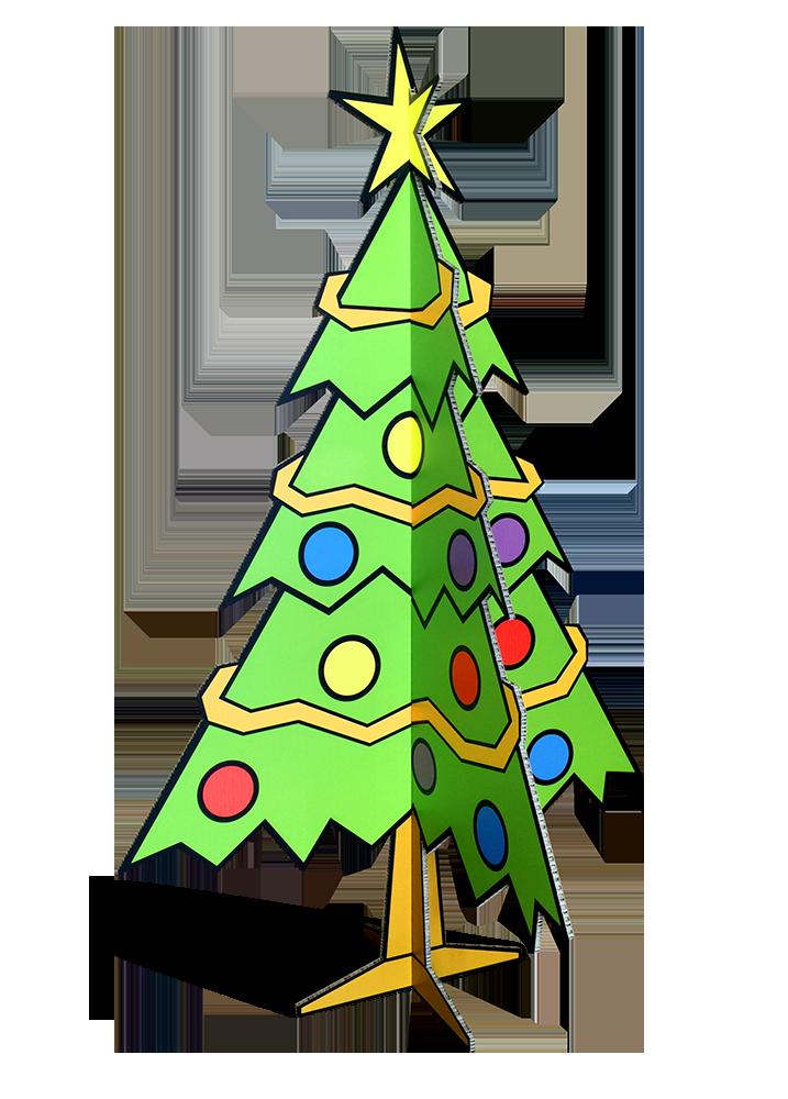 Levensgrote 3d Kerstboom Van Karton Bestel Lifesizers Online