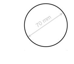 tweezijdig ronde kaartjes laten drukken van 70 mm