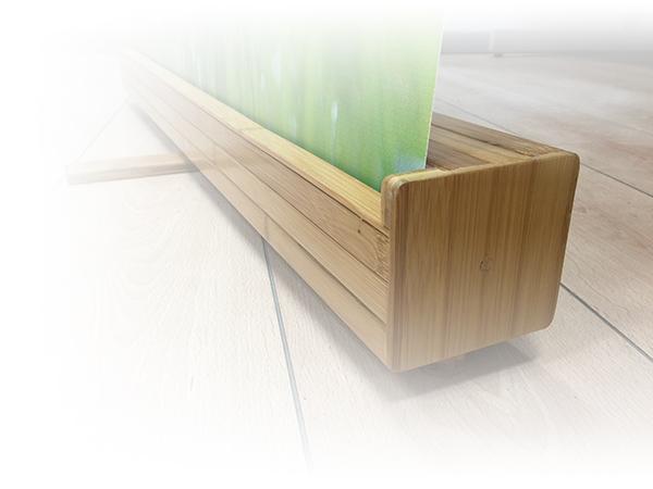 houten rolbanner van bamboe