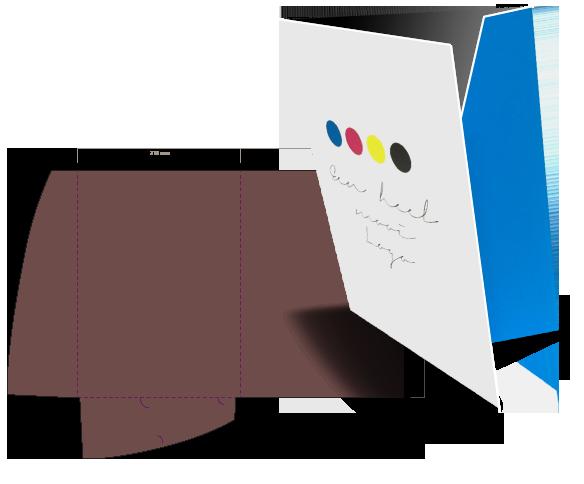 Bedrukte presentatiemappen en mappen drukken