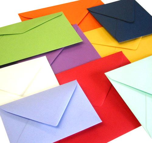 Proefmonster proefmodel aanvragen voor een gekleurde envelop