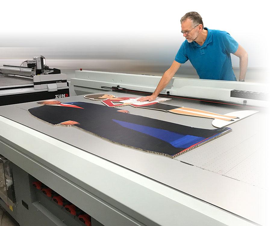 honingraatkarton bedrukken op de Arizona printer