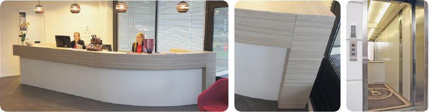 Plakfolie t.b.v. interieurfolie met houtstructuur of een kleur