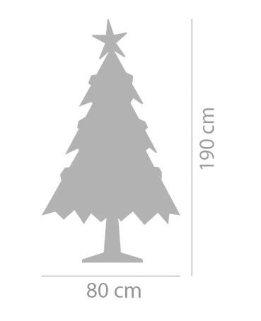 80 cm brede kartonnen boom