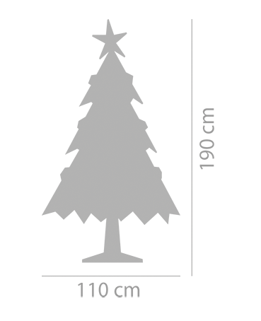 100 cm brede kartonnen boom