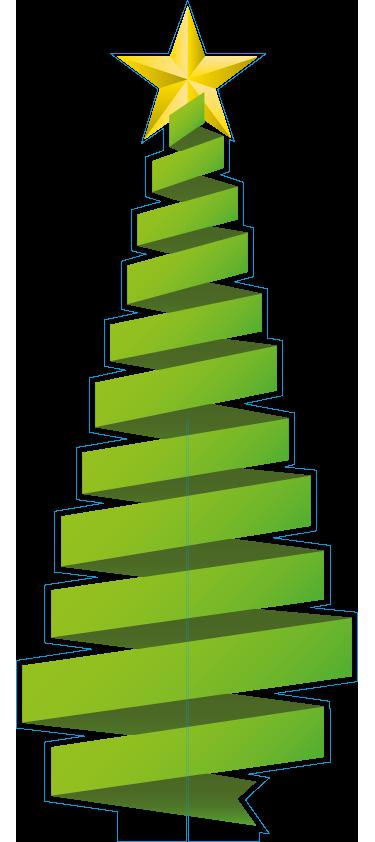 Levensgrote 3D kerstboom van karton