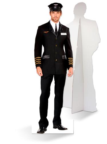Levensgrote kartonnen piloot