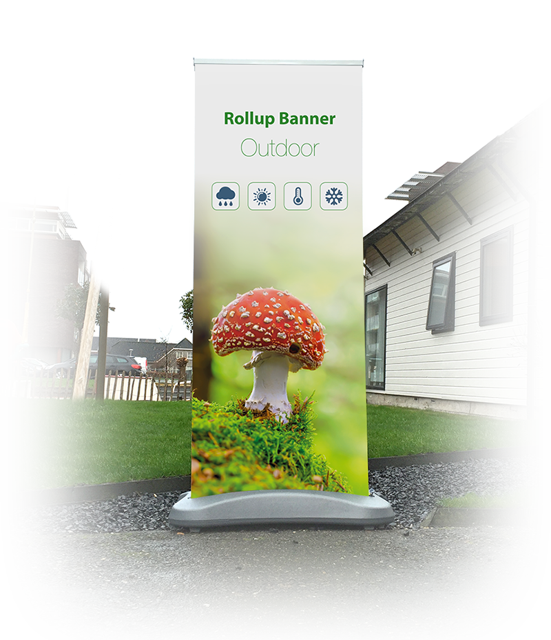 Outdoor rolbanner