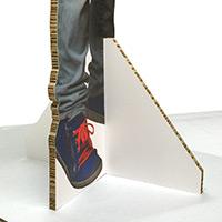Een systeem gemaakt van reboard plaatmateriaal