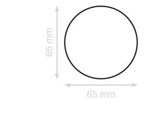 ronde visitekaartjes laten drukken 65 mm