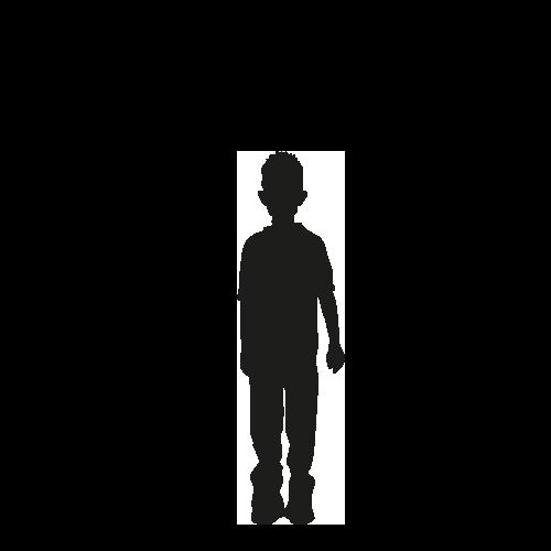 Levensgrote silhouet jongen