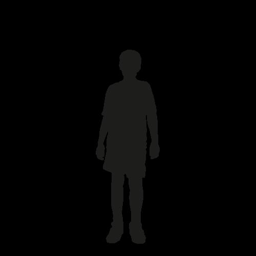 Levensgrote silhouet tiener