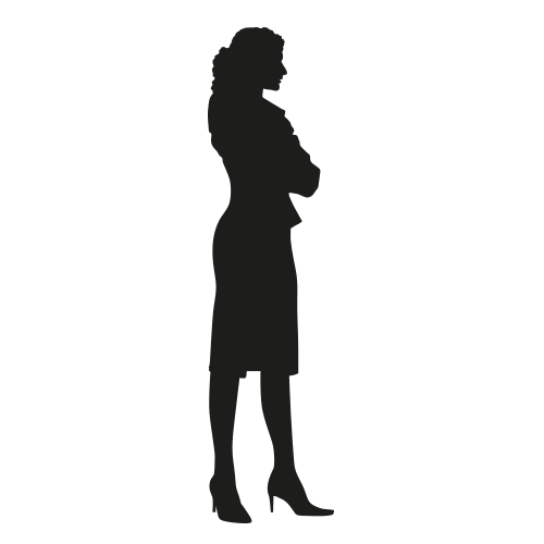 Levensgrote silhouet vrouw