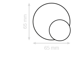 dubbelzijdig ronde visitekaartjes laten drukken 65 mm