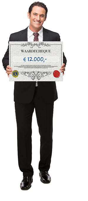 Grote waarde cheque