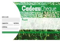 groene cheque