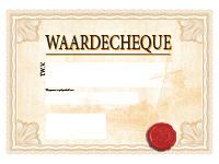 Zalmkleurige cheque