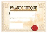 a3 cheque ontwerp 2 geel