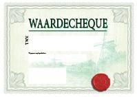a3 cheque ontwerp 3 groen