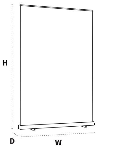 XL rolbanner formaten en dimensies