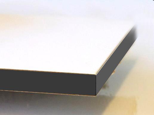 honingraatkarton met gekleurde kanten