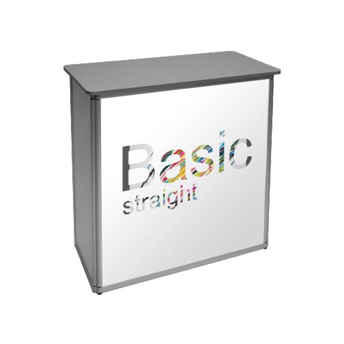 rechte basic mobiele balie voorbeeld met print