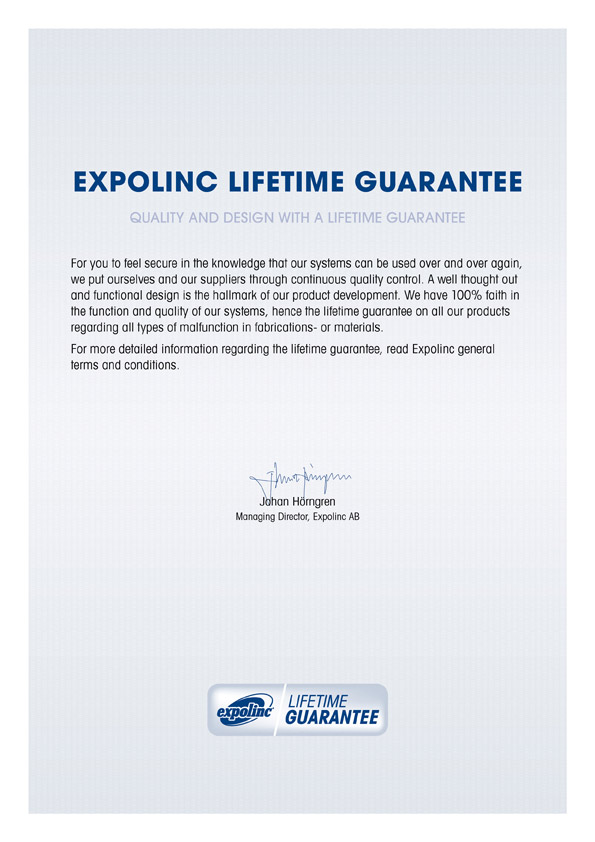 expolinc garantie | expolinc warranty guarantee