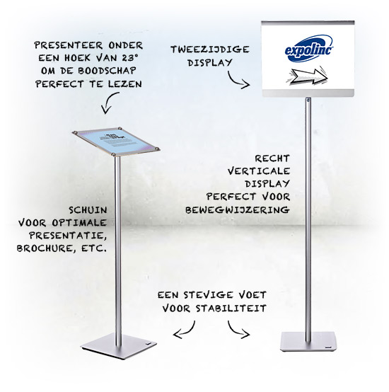 Info stand, informatie pilaar, info stands, Expolinc, folder presentation