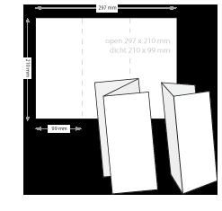folders drukken 2-slagen gevouwen