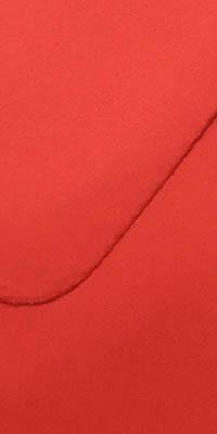 envelop met rode kleur, koraalrood