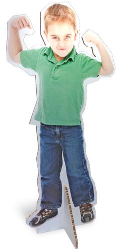 Levensgrote afbeelding op gecoat reboard karton