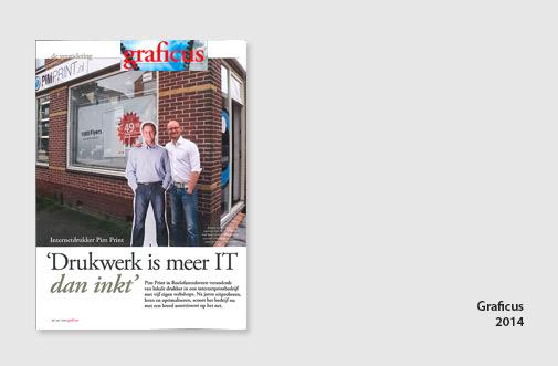 PIM Print in artikel van Graficus, mei 2014, artikel over digitalisering in de drukkerij