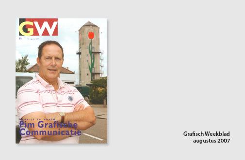 PIM Print in GW Grafisch Weekblad, jaar 2007, artikel over de toekomst van de drukkerij en verkoop als online drukkerij
