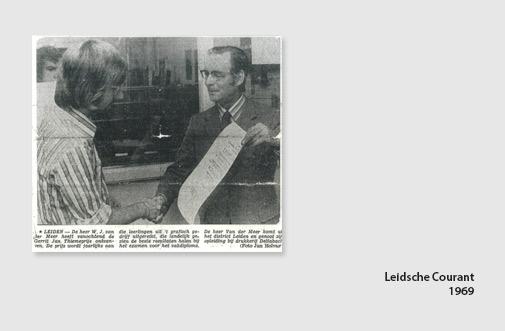 Leidsche Courant 1969, Pim van der Meer wint Gerrit Jan Thiemeprijs