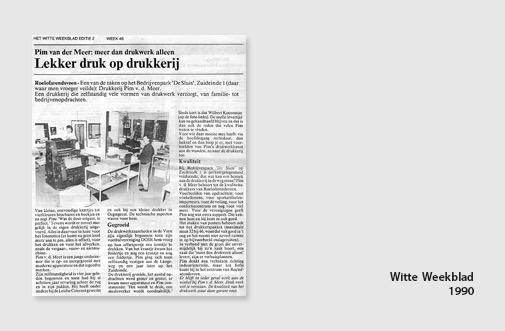 PIM Print in het Witte Weekblad, jaar 1990