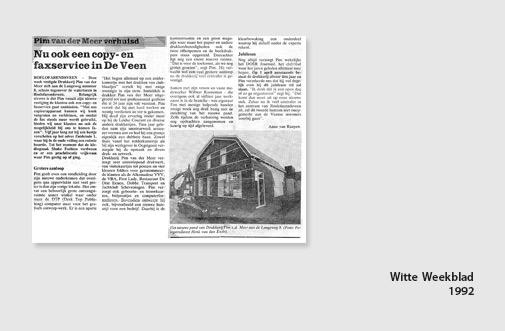 PIM Print in het Witte Weekblad, jaar 1992