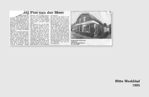 PIM Print in het Witte Weekblad, jaar 1993
