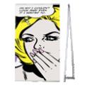 De 115 x 215 4screen popup banner is voor puur gebruiksgemak en langdurig gebruik