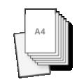 a4 flyers tweezijdig drukken op zwaar papier, 300grs dik papier aan 2 kanten bedrukt