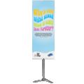 85 x 200 cm Pole System banner, de hoogste lichtgewicht banner