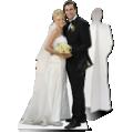 levensgroot bruidspaar als kartonnen paneel op levensgroot formaat
